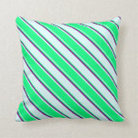 [ Thumbnail: Light Cyan, Green, and Purple Colored Lines Pillow ]