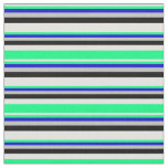 [ Thumbnail: Light Cyan, Green, Blue, Grey & Black Colored Fabric ]