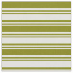 [ Thumbnail: Light Cyan & Green Colored Lined/Striped Pattern Fabric ]