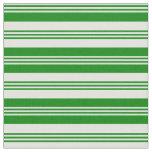 [ Thumbnail: Light Cyan & Green Colored Pattern of Stripes Fabric ]