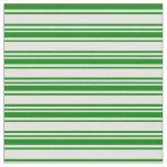 [ Thumbnail: Light Cyan & Green Colored Striped/Lined Pattern Fabric ]