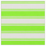 [ Thumbnail: Light Cyan & Green Colored Striped Pattern Fabric ]