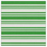 [ Thumbnail: Light Cyan & Green Colored Stripes Pattern Fabric ]
