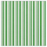 [ Thumbnail: Light Cyan & Green Striped Pattern Fabric ]