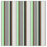 [ Thumbnail: Light Cyan, Grey, Brown, Black & Green Pattern Fabric ]