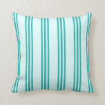 [ Thumbnail: Light Cyan & Light Sea Green Colored Lines Pillow ]