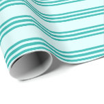[ Thumbnail: Light Cyan & Light Sea Green Colored Lines Wrapping Paper ]