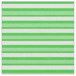 [ Thumbnail: Light Cyan & Lime Green Pattern of Stripes Fabric ]
