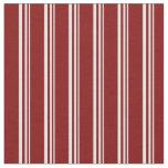 [ Thumbnail: Light Cyan & Maroon Colored Stripes Fabric ]