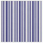 [ Thumbnail: Light Cyan & Midnight Blue Lines Pattern Fabric ]
