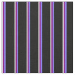 [ Thumbnail: Light Cyan, Purple, Medium Slate Blue & Black Fabric ]