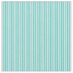 [ Thumbnail: Light Cyan & Turquoise Stripes Pattern Fabric ]