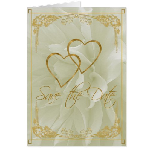 Light Dahlia Save the Date Greeting Card