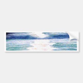 Light Dance on the Sea CricketDiane Ocean Art Bumper Sticker