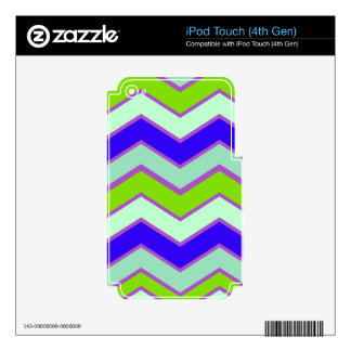 Light Dark Contrast Chevron Decals For iPod Touch 4G