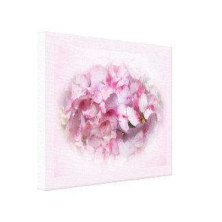 Light & Dark Pink Hydrangea Flowers Canvas Print
