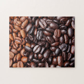 Light & Dark Roast Coffee Beans - Customized Blank Jigsaw Puzzle