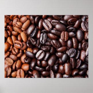 Light & Dark Roast Coffee Beans - Customized Blank Posters