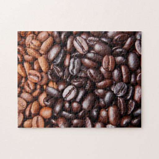 Light & Dark Roast Coffee Beans - Customized Blank Puzzle