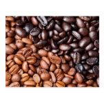 Light & Dark Roasted Coffee Beans Customized Blank Post Cards
