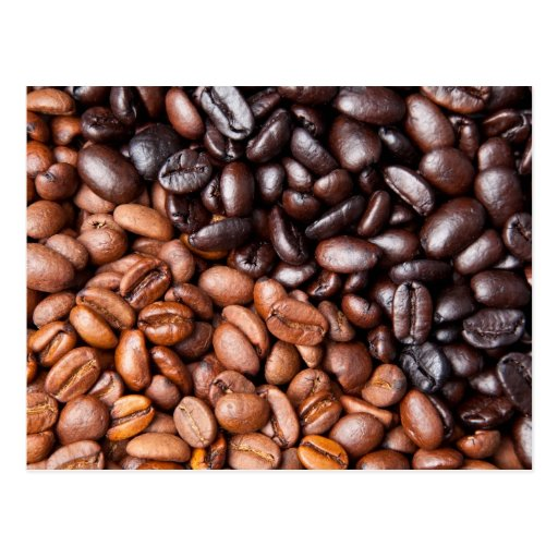 Light & Dark Roasted Coffee Beans Customized Blank Post Cards