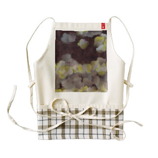 Light diffraction from a brown window zazzle HEART apron