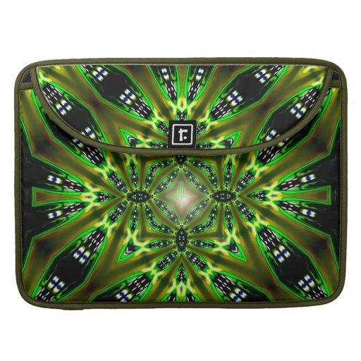 Light  DMT Tribal Green Fusion Laptop Sleeve