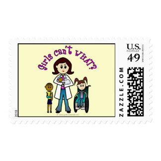 Light Doctor Girl Postage Stamp