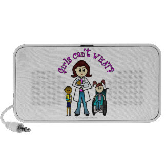 Light Doctor Girl Notebook Speaker