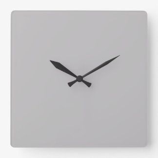 Light Dove Grey Color Gray - Trend Blank Template Square Wallclocks
