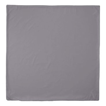 fabricatedframes light drizzle dark shark gray solid color duvet