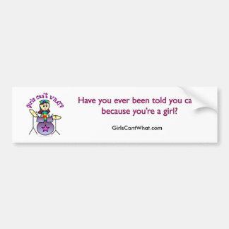 Light Drummer Girl Bumper Sticker