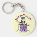 Light Drummer Girl Keychain