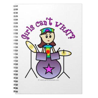 Light Drummer Girl Notebook