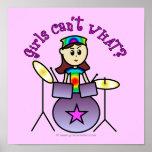 Light Drummer Girl Poster