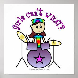 Light Drummer Girl Print