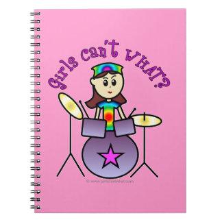 Light Drummer Girl Spiral Notebook