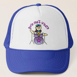 Light Drummer Girl Trucker Hat
