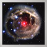 Light Echo Around V838 Monocerotis Poster