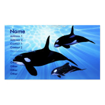 whale, ocean, sea, creature, humpback, sperm, cow, calf, cetacean, orca, animal, beautiful, blue, mammal, concept, conceptual, killer, exploration, free, lonely, life, splash, splashing, swim, tropical, underwater, water, pod, oceans, Cartão de visita com design gráfico personalizado