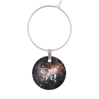 Light Echo from Star V838 Wine Glass Charm