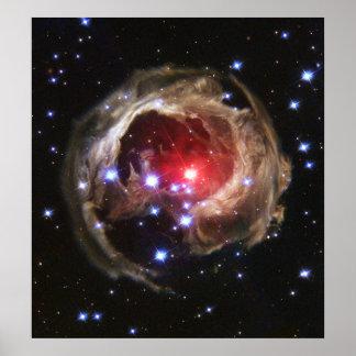 Light echo from V838 Monocerotis Poster