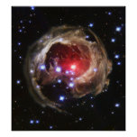Light echo from V838 Monocerotis Posters