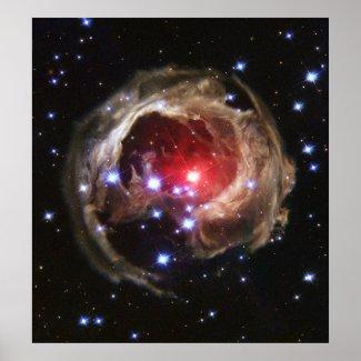 """Light Echo"" Illuminates Dust Around Supergiant St Poster"