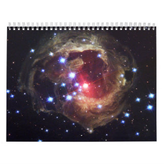 Light Echoes From Red Supergiant Star V838 Monocer Calendar