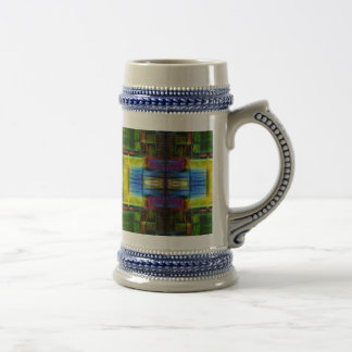 Light-Effect Sci-Fi Abstract 18 Oz Beer Stein