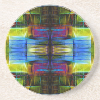 Light-Effect Sci-Fi Abstract Drink Coasters