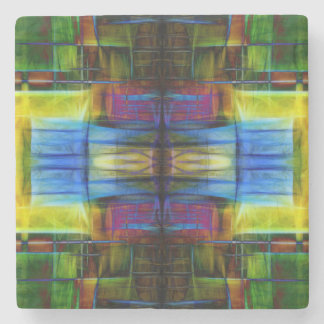 Light-Effect Sci-Fi Abstract Stone Beverage Coaster