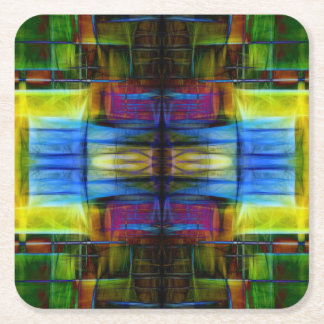 Light-Effect Sci-Fi Abstract Square Paper Coaster