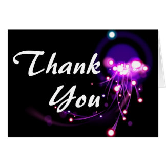 Light Effects Thank You Cards